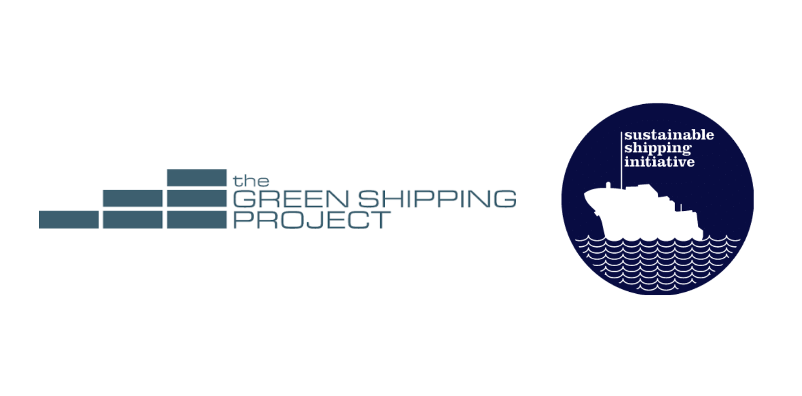 Green Shipping Project and Sustainable Shipping Initiative logos side by side